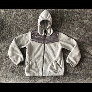 The North Face girls hooded fleece jacket